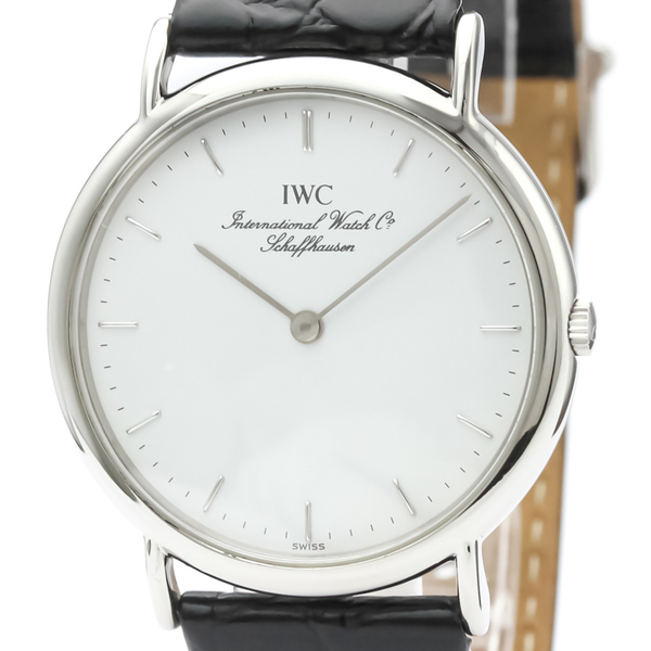 【IWC】ポートフィノ ステンレススチール レザー クォーツ メンズ 時計 IW3341