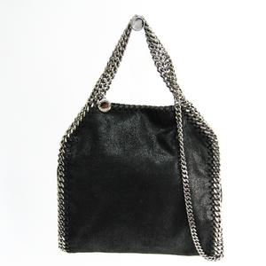 Stella McCartney Mini 371223 W9132 Women's Faux Fur,Silver Handbag,Shoulder Bag Black