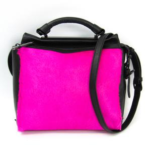 3.1 Phillip Lim 31 HOUR AP13-0306CHA Women's Leather Handbag Black,Pink