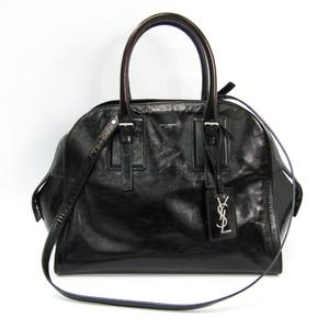 Saint Laurent Grenelle M Women's Leather Shoulder Bag Black