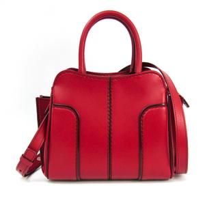 Tod's Women's Leather Handbag,Shoulder Bag Red
