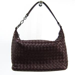 Bottega Veneta Intrecciato 239988 Women's Leather Handbag Bordeaux