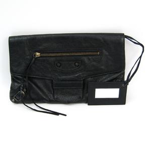 Balenciaga Giant 278039 Unisex Leather Bag Black