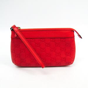 Gucci MicroGuccissima 274181 Women's Leather Pochette Red