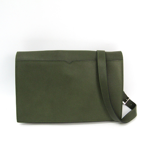 Valextra Messenger Flap Women's Leather Shoulder Bag Olive