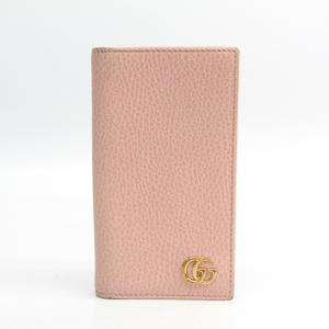 グッチ(Gucci) GGマーモント 476778 レザー 手帳型/カード入れ付きケース iPhone 7 対応 ピンク