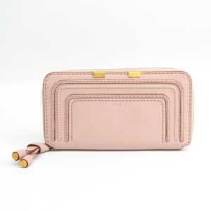 Chloé Marcie CHC10UP571 161 24L Leather Long Wallet (bi-fold) Light Pink