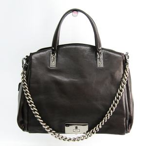 Celine Women's Leather Handbag Brown