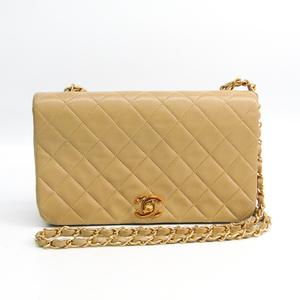 シャネル(Chanel) マトラッセ フルフラップシングルチェーン A03568 レディース レザー ショルダーバッグ ベージュ