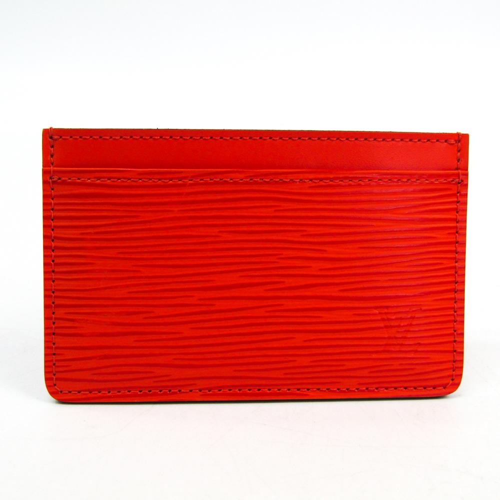 ルイ・ヴィトン(Louis Vuitton) エピ ポルト カルト・サーンプル M60333 エピレザー カードケース ピモン