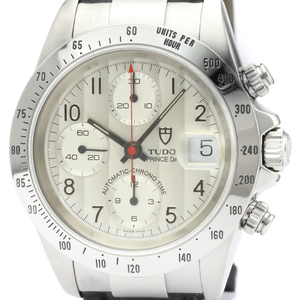 Polished TUDOR Chronograph Prince Date Steel Automatic Mens Watch 79280 BF506027