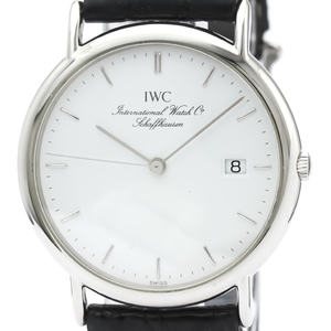IWC Portofino Steel Leather Quartz Mens Watch 3331IW333106