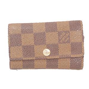 Louis Vuitton Damier N62630 Men,Women,Unisex  Key Case Brown,Ebene
