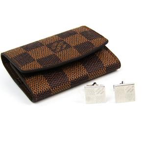 Louis Vuitton Metal Cufflinks Silver Cufflinks Damier M61035