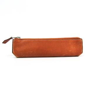 Hermes Piccolo Gulliver Leather Pen Case (Light Brown)