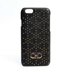 Salvatore Ferragamo Leather Phone Bumper For IPhone 6s Black Gancini 22-C855