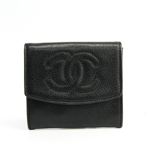 Chanel Women's Caviar Leather Coin Purse/coin Case Black