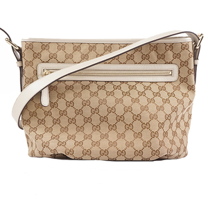 Gucci GG Canvas Shoulder Bag 388930 Women's GG Canvas Shoulder Bag Beige Brown