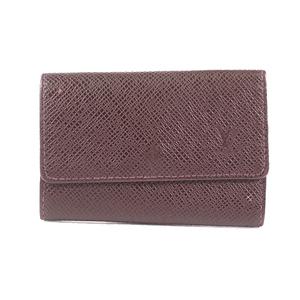 Louis Vuitton Taiga M30538 6 Key Holder Taiga Leather Key Case Acajou
