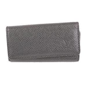 Louis Vuitton Taiga M30522 Men's Taiga Leather Key Case Ardoise