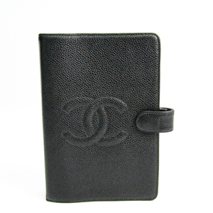 Chanel Bible Size Planner Cover Black