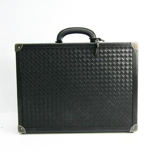 ボッテガ・ヴェネタ(Bottega Veneta) イントレチャート メンズ レザー アタッシュケース ブラック