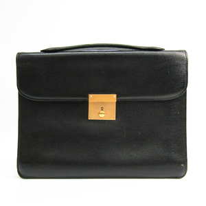 Valextra Leather Handbag Black