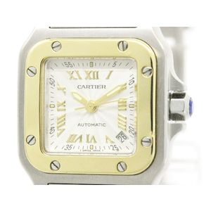 Cartier Santos De Cartier Automatic Stainless Steel,Yellow Gold (18K) Women's Dress Watch W20045C4