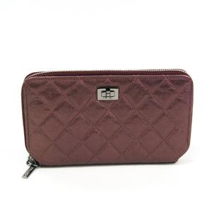 シャネル(Chanel) 2.55 レディース  ヴィンテージカーフ 長財布(二つ折り) メタリックピンク