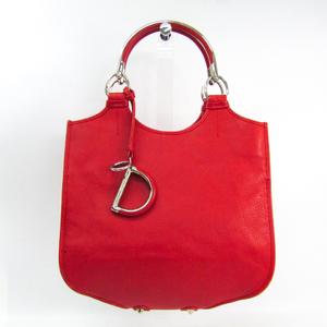 クリスチャン・ディオール(Christian Dior) レディース レザー ハンドバッグ レッド
