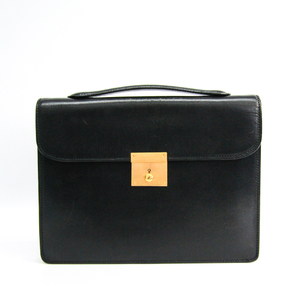 Valextra Men's Leather Clutch Bag Black