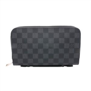 ルイ・ヴィトン(Louis Vuitton) ダミエ・グラフィット ジッピーXL N41503 メンズ ダミエグラフィット 長財布(二つ折り) ブラック