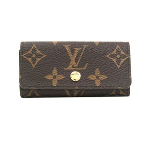 Louis Vuitton Monogram Women's Monogram Key Case Monogram M62631 4 Key Holder