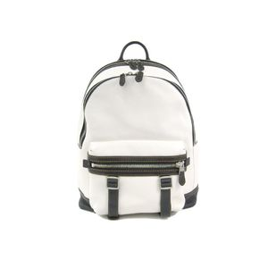 Coach 57408 Flag Backpack In Pebble Leather Men's Backpack Black,White