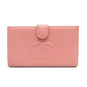 シャネル(Chanel) A13498 レディース キャビアスキン 長財布(二つ折り) ベビーピンク