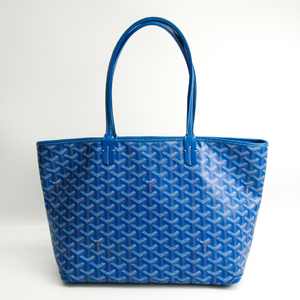 Goyard Artois PM Women's PVC,Leather Tote Bag Blue