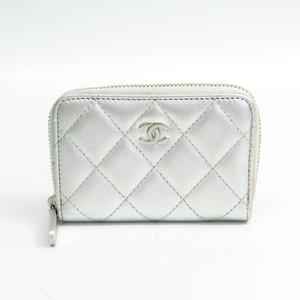 シャネル(Chanel) マトラッセ レディース レザー 小銭入れ・コインケース シルバー