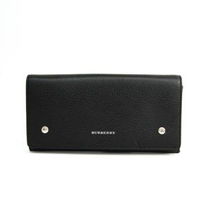 バーバリー(Burberry) 4075093 ユニセックス レザー 長財布(二つ折り) ブラック