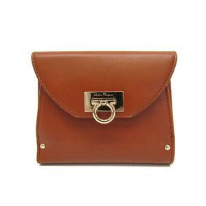 Salvatore Ferragamo Gancini AQ-22 4208 Women's Wallet (bi-fold) Brown