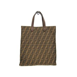 Fendi Zucca 8BH263 Women's Tote Bag Brown