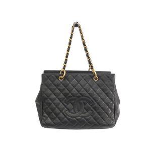 Chanel Women's Caviar Leather Tote Bag Black