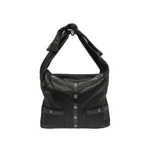 Chanel Girl Chanel A90685 Women's Leather Shoulder Bag Black