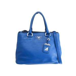 Prada BN2579 Women's Vitello Daino Handbag Royal