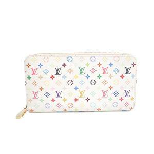 Louis Vuitton Monogram Multicolore M60241 Zippy Wallet Women's Long Wallet (bi-fold) Litchi,Blanc