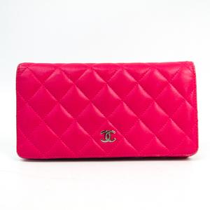 シャネル(Chanel) マトラッセ A31509 レディース  ラムスキン 長財布(二つ折り) ピンク