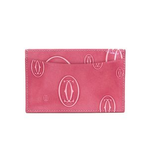 Cartier Happy Birthday Leather Card Case Pink L3001477