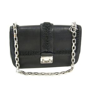 Christian Dior Miss Dior Women's Leather Shoulder Bag Black
