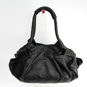 ロエベ(Loewe) ナッパアイレ レディース レザー ハンドバッグ ブラック