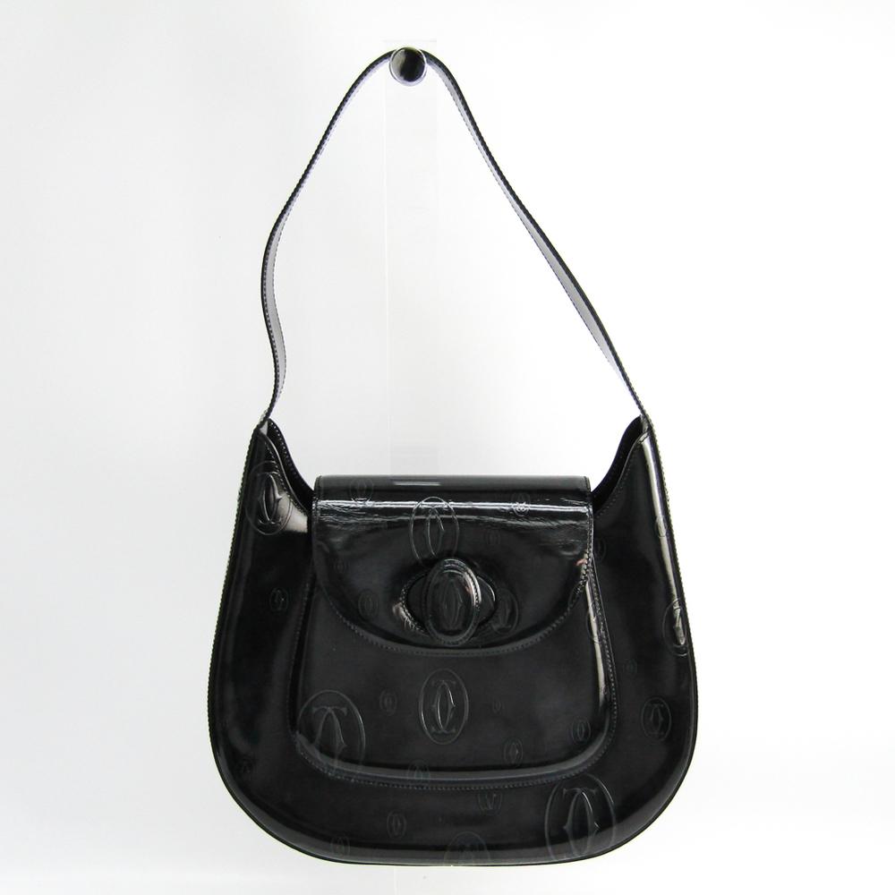 カルティエ(Cartier) ハッピーバースデー レディース レザー ハンドバッグ ブラック