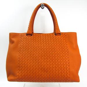 ボッテガ・ヴェネタ(Bottega Veneta) イントレチャート 428331 ユニセックス レザー トートバッグ オレンジ